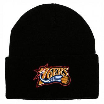 Zimska kapa M&N Team Logo Philadelphia 76ers Cuff Knit ''Black''