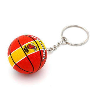 NBA Miami Heat Basketball Keychain ''Red/Yellow''