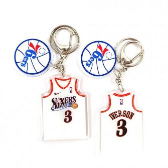 NBA Philadelphia 76ers Allen Iverson Keychain ''White''