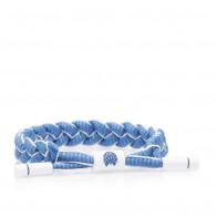 Rastaclat Blue Hue Braided Bracelet ''Blue/White''