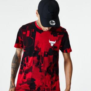 New Era NBA All Over Error Print Chicago Bulls T-Shirt ''Red''