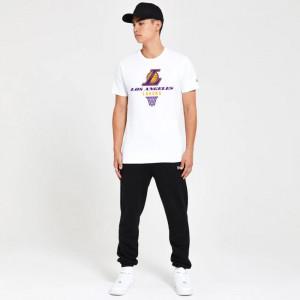 New Era Los Angeles Lakers Basket Graphic T-Shirt ''White''