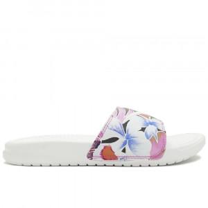 Ženski natikači Nike Benassi Just Do It. Floral ''White''