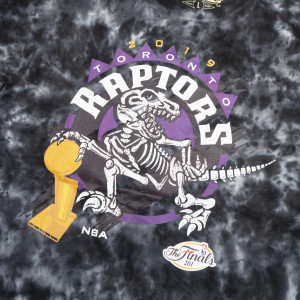 M&N Tie-Dye Champions Toronto Raptors T-Shirt ''Black''