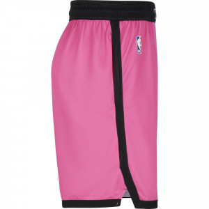 Nike NBA Miami Heat City Edition 2020 Swingman Shorts ''Laser Fuchsia/Blue Gale''