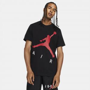 Air Jordan Jumpman Air Logo T-Shirt ''Black/Gym Red''