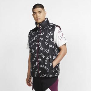Air Jordan PSG Puffer Vest ''Bordeaux/Black/Metallic Gold''
