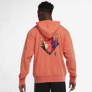 Air Jordan Dri-FIT Zion Performance Fleece Hoodie ''Bright Crimson''