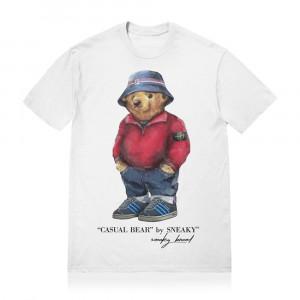 Sneaky Casual Bear T-Shirt ''White''