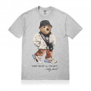 Sneaky Drip Bear T-Shirt ''Grey''