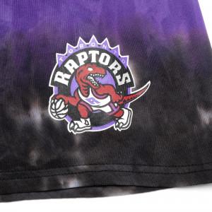 M&N Tie-Dye Terry Toronto Raptors Shorts ''Black/Purple''