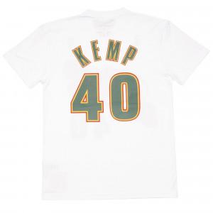 M&N NBA Seattle Supersonics Shawn Kemp HWC Edition T-Shirt ''White''