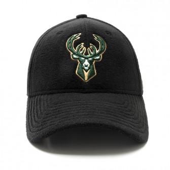 New Era 9Forty Milwaukee Bucks Fleece Cap ''Black''