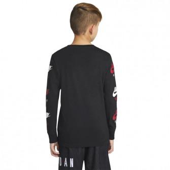 Air Jordan Jumpman Long Sleeve Kids Shirt ''Black''