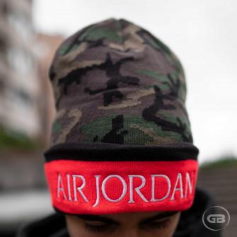 Air Jordan Jumpman Classics Beanie Hat ''Olive/Camo Print''