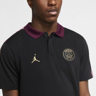 Air Jordan Paris Saint-Germain Taped Polo T-Shirt ''Black''