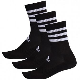 adidas 3-Stripes Cushioned Crew Socks 3 Pairs ''Black''