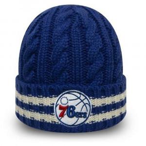 Zimska kapa New Era NBA Team Philadelphia 76ers Stripe Knit ''Black''