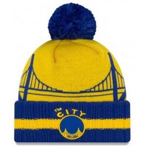 Zimska kapa New Era NBA Golden State Warriors Hardwood Classic ''Blue/Yellow''