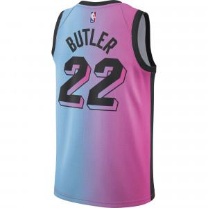Dres Nike NBA City Edition Miami Heat Jimmy Butler Jersey ''Lase Fuchsia/Blue Gale''