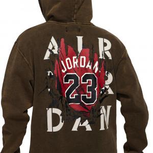 Hoodie Air Jordan AJ5 Jersey Graphic Fleece ''Washed Black/Green''