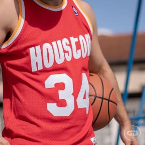 Dres M&N NBA Hardwood Classics Hakeem Olajuwon Houston Rockets ''Red''