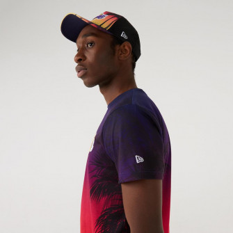 Kratka majica New Era Coastal Heat AllOver Los Angeles Lakers ''Sunset Fade''