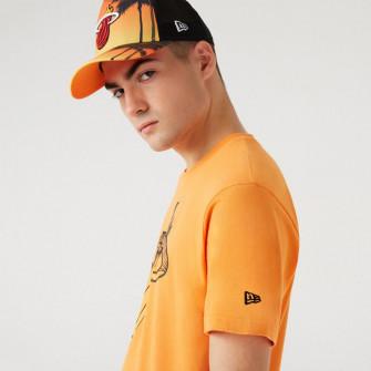 Kratka majica New Era Coastal Heat Infill Miami Heat ''Orange''