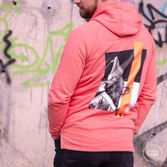 Hoodie Under Armour Baseline ''Coral''