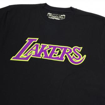 Kratka majica M&N Los Angeles Lakers Neon Logo ''Black''