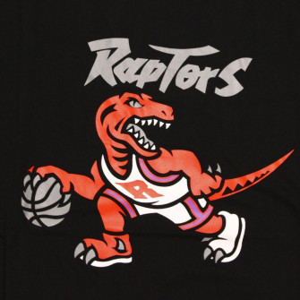 M&N NBA Toronto Raptors Neon Team Logo T-Shirt ''Black''