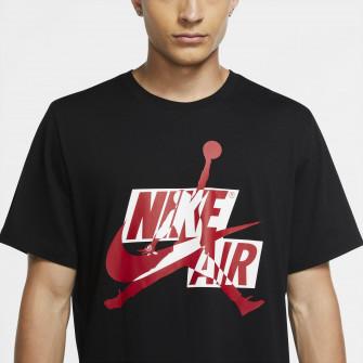 Air Jordan Jumpman Classics HBR Short-Sleeve T-Shirt ''Black/Gym Red''