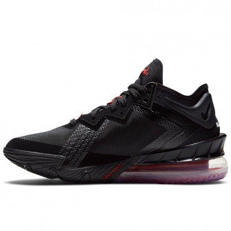 Nike Lebron 18 Low ''Black/White-University Red''