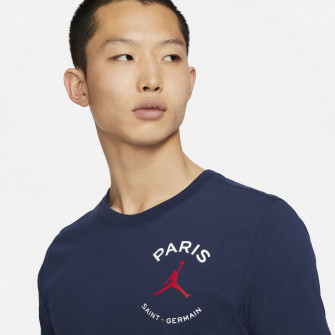 Kratka majica Air Jordan Paris Saint-Germain Logo ''Midnight Navy''