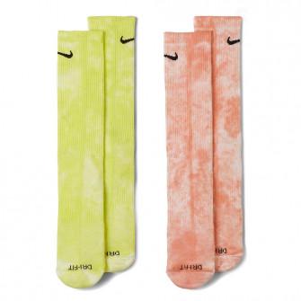 Čarape Nike Everyday Plus Tie-Dye Crew ''Green/Pink''