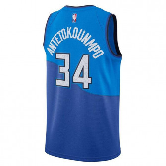 Dječji dres Nike NBA Milwaukee Bucks Giannis City Edition Swingman ''Blue''