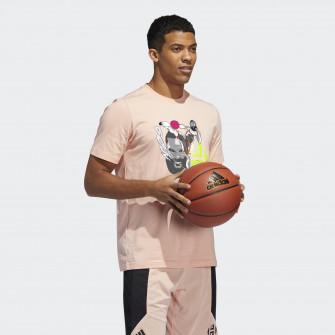 Kratka majica adidas Harden Geek Up Kick ''Glow Pink''