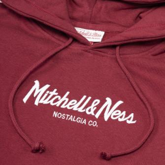 Hoodie Mitchell & Ness Pinscript Logo ''Red''
