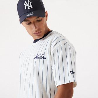 Kratka majica New Era Pinstripe Oversized ''White/Black''