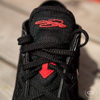 Nike Lebron 18 Low ''Black/White-University Red''