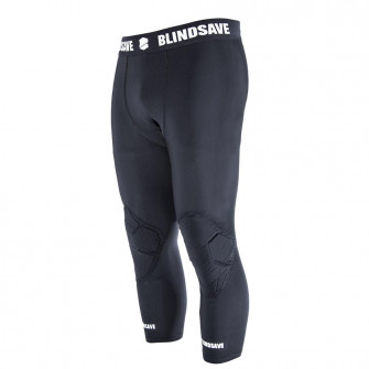Kompresijske tajice Blindsave 3/4 Tights with Knee Padding ''Black''
