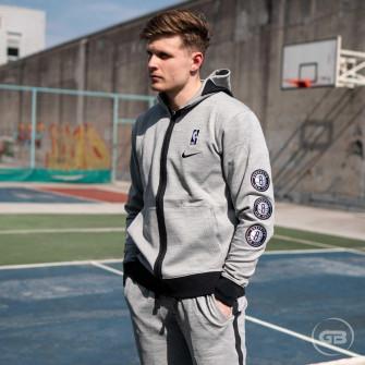 Hoodie Nike NBA Brooklyn Nets Showtime Therma Flex ''Dark Grey Heather''