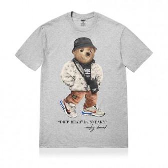 Kratka majica Sneaky Drip Bear ''Grey''