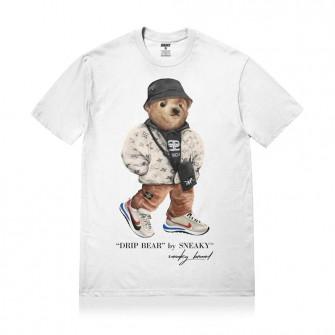 Kratka majica Sneaky Drip Bear ''White''