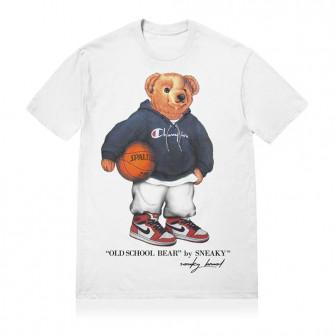 Kratka majica Sneaky Old School Bear ''White''