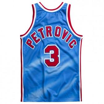 Dres M&N Swingman New Jersey Nets 1990-91 Dražen Petrović ''Light Blue''