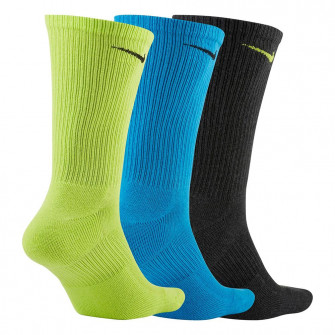 Čarape Nike Everyday Plus Cushioned 3-Pack ''Black/Green/Blue''