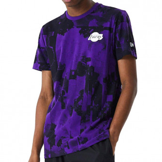 Kratka majica New Era Los Angeles Lakers All Over Error Print ''Purple''