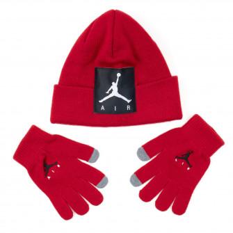 Dječji komplet Air Jordan Offset Patch Beanie ''Red''