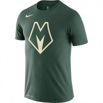 Kratka majica Nike Dri-FIT Milwaukee Bucks City Edition Logo ''Fir''